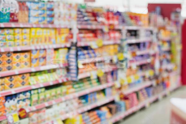 изображение шельфа продуктовых металл торговых супермаркета Сток-фото © wavebreak_media