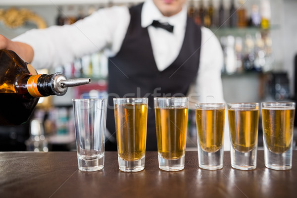 De ober bar counter restaurant Stockfoto © wavebreak_media