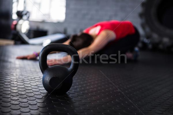 спортсмена гири спортзал стены спорт Сток-фото © wavebreak_media