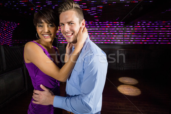 Cute couple danse ensemble piste de danse portrait Photo stock © wavebreak_media