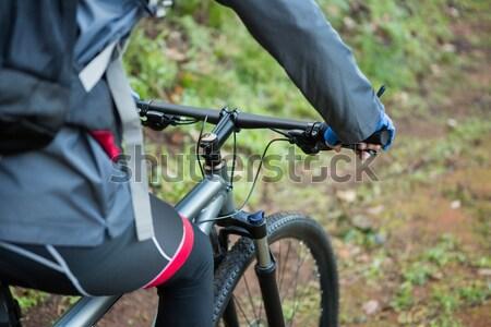 мужчины горные верховая езда велосипед Сток-фото © wavebreak_media