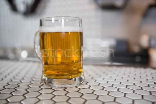 ガラス ビール バー カウンタ クローズアップ 愛 ストックフォト © wavebreak_media