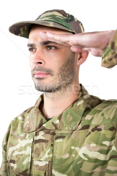 Asker adam savaş eğlence top Stok fotoğraf © wavebreak_media