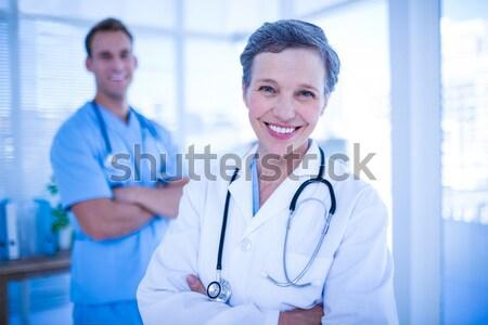 Сток-фото: врачи · медсестры · Постоянный · больницу · портрет