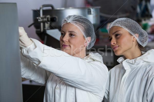 Female butchers working Stock photo © wavebreak_media