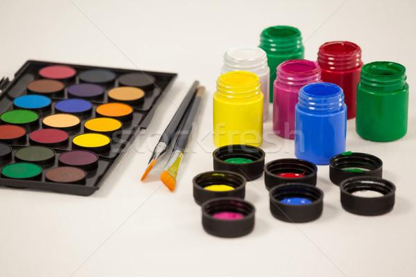 краской акварель палитра белый образование таблице Сток-фото © wavebreak_media