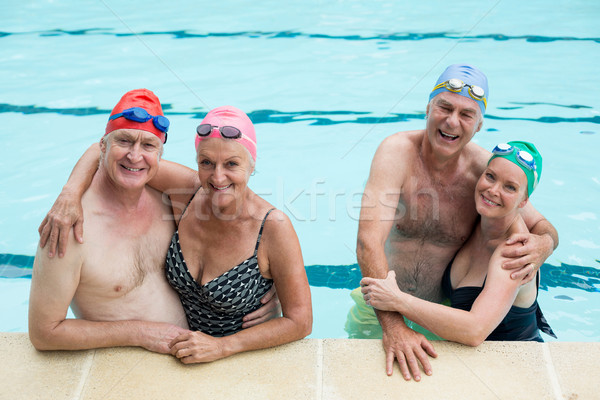 Altos parejas piscina mujer agua Foto stock © wavebreak_media