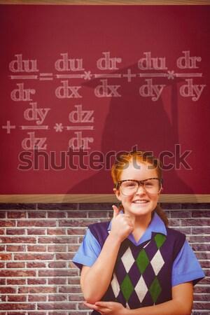 красный счастливым ребенка образование классе цифровой Сток-фото © wavebreak_media