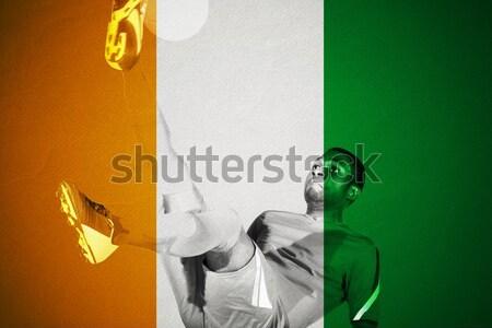 Piłka cel netto cyfrowo wygenerowany banderą Zdjęcia stock © wavebreak_media