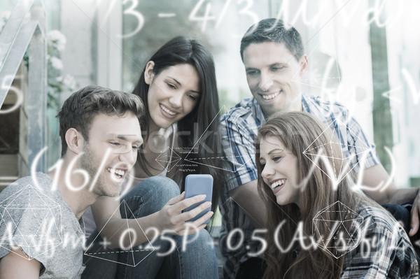 изображение математика уравнение счастливым студентов Сток-фото © wavebreak_media