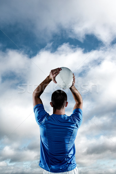 Foto stock: Imagen · rugby · jugador