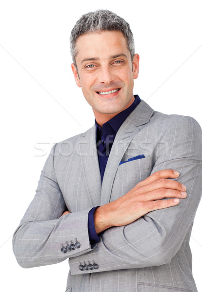 Attractive businessman with folded arms  Stock photo © wavebreak_media