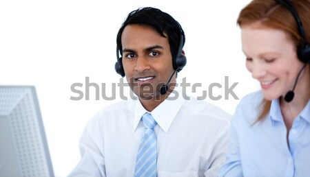 International customer service representatives with headset on Stock photo © wavebreak_media