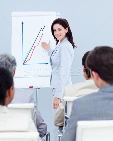 Mooie zakenvrouw verkoop vergadering werk zakenman Stockfoto © wavebreak_media