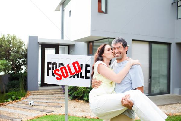 пару дома счастливым Сток-фото © wavebreak_media