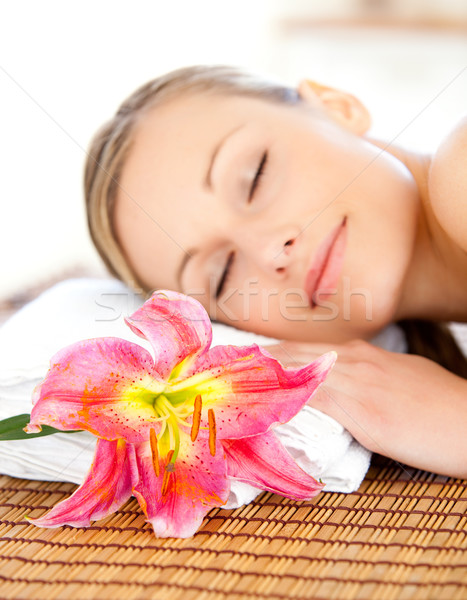 Portrait of an attractive woman having a massage  Stock photo © wavebreak_media