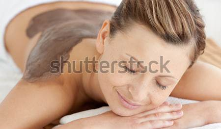 Charmant femme boue traitement de la peau spa Photo stock © wavebreak_media
