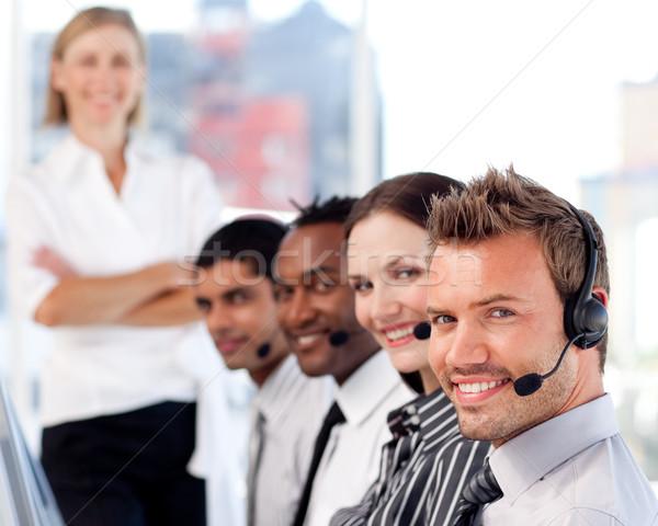 Caucasiano gerente representante equipe escritório Foto stock © wavebreak_media