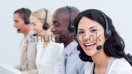 Dynamisch manager leidend vertegenwoordiger team kantoor Stockfoto © wavebreak_media