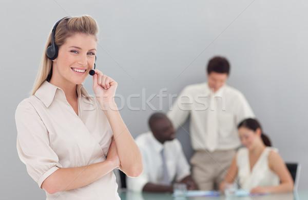 Encantador feminino de vendas equipe escritório sorrir Foto stock © wavebreak_media