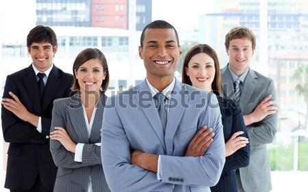 Retrato alegre equipe de negócios branco negócio sorrir Foto stock © wavebreak_media