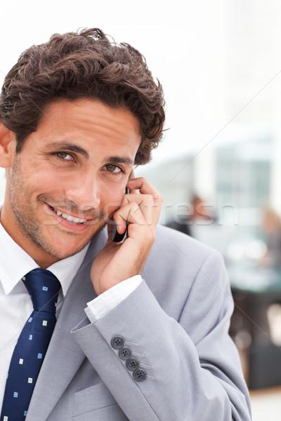 Encantador empresário escritório sorrir reunião trabalhar Foto stock © wavebreak_media