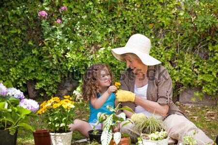 Szczęśliwy babcia wnuczka pracy ogród dziewczyna Zdjęcia stock © wavebreak_media