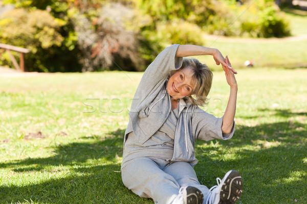 Idős nő park egészség női személy Stock fotó © wavebreak_media
