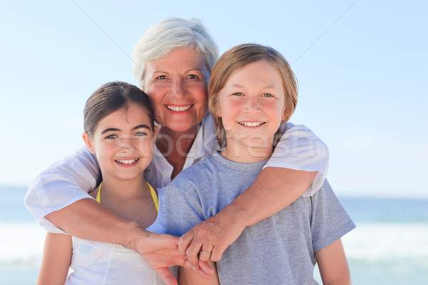 Grandmother with her grandchildren Stock photo © wavebreak_media