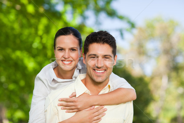 Man giving wife a piggyback Stock photo © wavebreak_media
