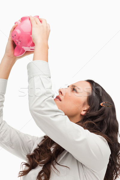 Boş kumbara beyaz para banka domuz Stok fotoğraf © wavebreak_media