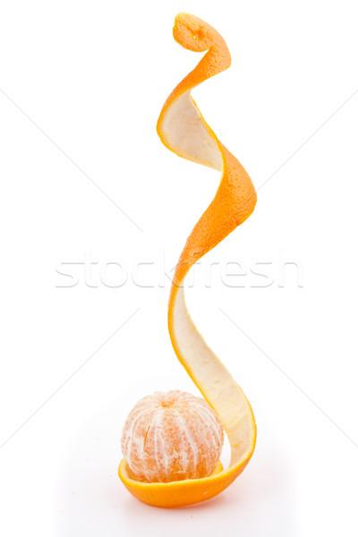 Naranja pelado blanco frutas Foto stock © wavebreak_media