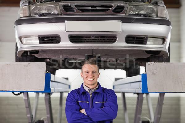 Mecânico abaixo carro garagem homem Foto stock © wavebreak_media