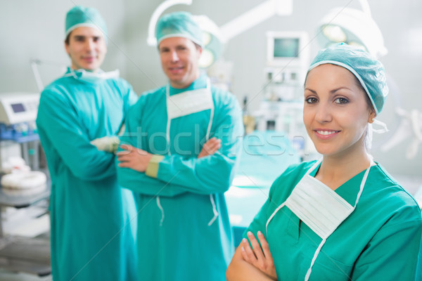 Surgical team with arms crossed in an operating theatre Stock photo © wavebreak_media