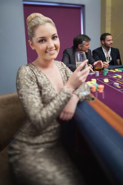 Roulette table casino argent Photo stock © wavebreak_media
