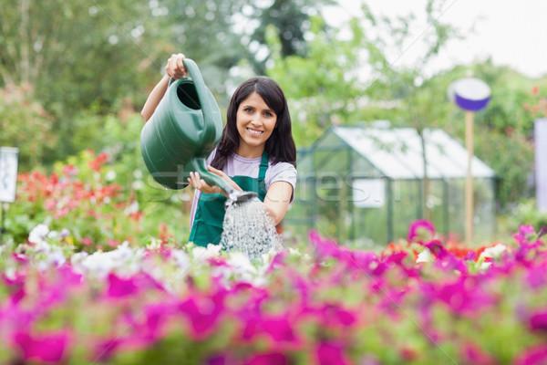 счастливым сотрудник растений за пределами саду Сток-фото © wavebreak_media