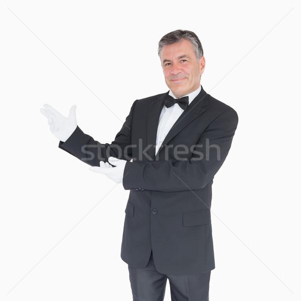 笑みを浮かべて ウェイター スーツ シャツ ストックフォト © wavebreak_media