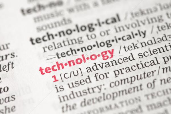 Tecnologia definizione dizionario rosso concetto conoscenza Foto d'archivio © wavebreak_media