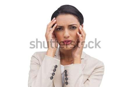 çekici işkadını baş ağrısı beyaz iş yüz Stok fotoğraf © wavebreak_media