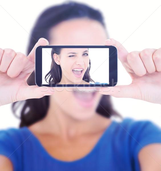 изображение довольно брюнетка камеры Сток-фото © wavebreak_media