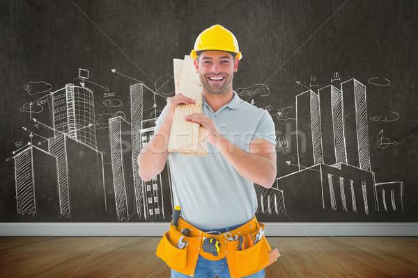 Composite image of carpenter Stock photo © wavebreak_media