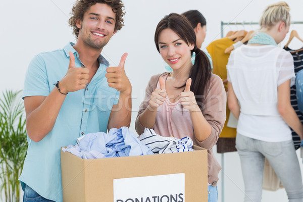 Mensen kleding schenking groep Stockfoto © wavebreak_media