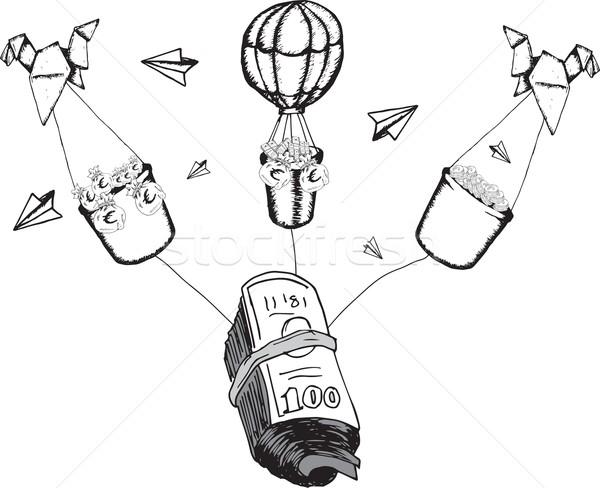 Financieren spaargeld illustraties witte Stockfoto © wavebreak_media