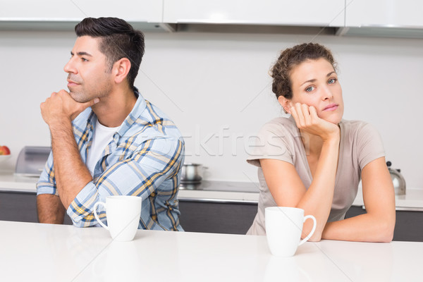 çift kahve değil konuşma ev Stok fotoğraf © wavebreak_media