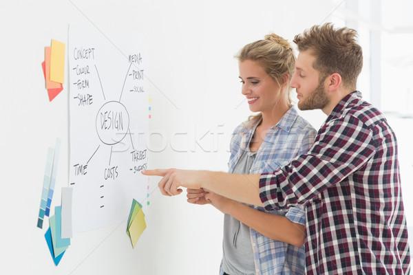 デザイン チーム 見える ホワイトボード 創造 ストックフォト © wavebreak_media