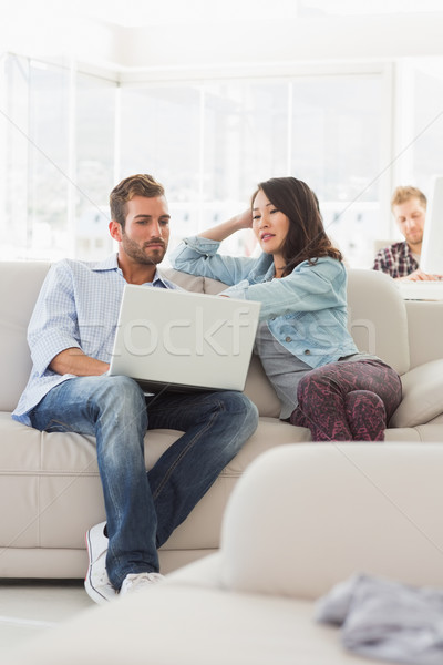 Gericht laptop bank creatieve kantoor Stockfoto © wavebreak_media