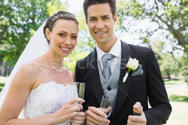 Di recente Coppia champagne occhiali ritratto Foto d'archivio © wavebreak_media