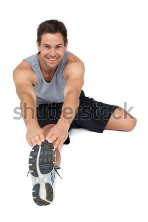 Portre genç eller bacak beyaz Stok fotoğraf © wavebreak_media