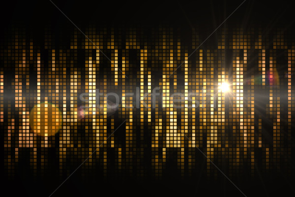 Cool pixel arancione party energia digitale Foto d'archivio © wavebreak_media