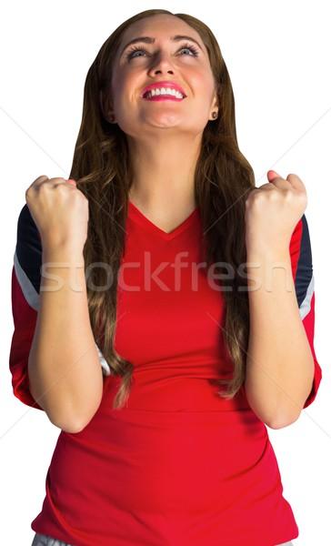 Bella calcio fan bianco donna Foto d'archivio © wavebreak_media